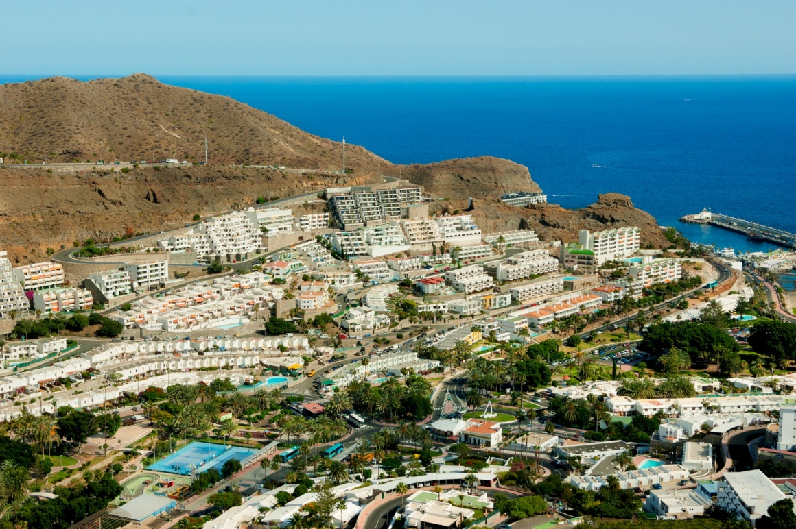 'Puerto Rico resort in Gran Canaria, bird view' - Gran Canaria Island