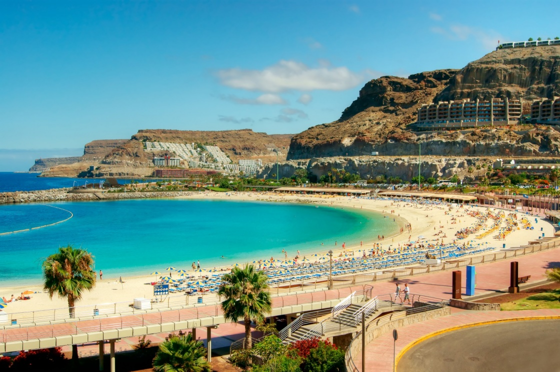 'View over Amadores beach on Gran Canaria, Spain' - Gran Canaria Island